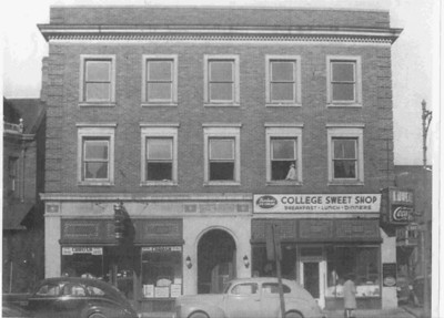 The College Sweet Shop was a favorite gathering place for Rider students during the 1950s.