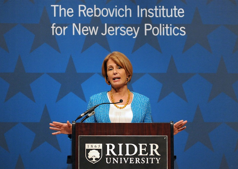 Originally founded in 2001 by Dr. David Rebovich as the Rider Institute for New Jersey Politics, the Institute has always been dedicated to public service and the scholarly analysis of government, public policy and campaigns. <br /> <br /> Barbara Buono, then Democratic candidate for New Jersey governor, spoke at Rider on Oct. 22, 2013.