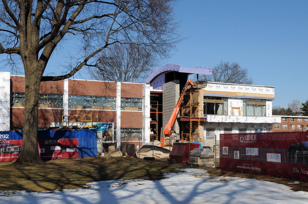 02-16-2011 -- New Academic Building construction.