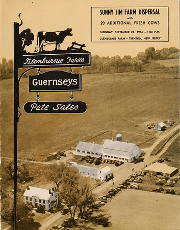 A poster for Glenburnie Farm, which was purchased by Rider College in Lawrenceville, N.J.