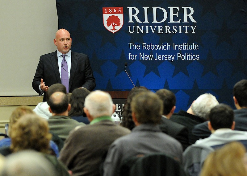When he's not teaching or helping students secure internships, Dworkin is busy bringing top elected officials and other government leaders to campus to engage with students. In 2013, the Institute hosted, among others, then-Mayor, now-Senator Cory Booker; state Senator Barbara Buono, Democratic candidate for New Jersey Governor; U.S. Congressmen Frank Pallone (D) and Leonard Lance (R); as well as Schmidt.